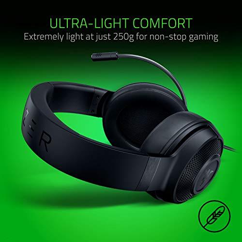 Razer Kraken X Gaming Headset - 7.1 Surround Sound - Ultra-light - Classic Black 7