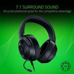 Razer Kraken X Gaming Headset - 7.1 Surround Sound - Ultra-light - Classic Black 27