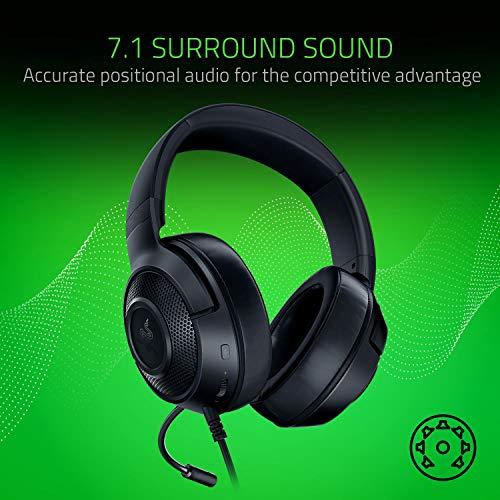 Razer Kraken X Gaming Headset - 7.1 Surround Sound - Ultra-light - Classic Black 8