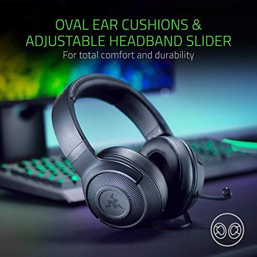Razer Kraken X Gaming Headset - 7.1 Surround Sound - Ultra-light - Classic Black 9