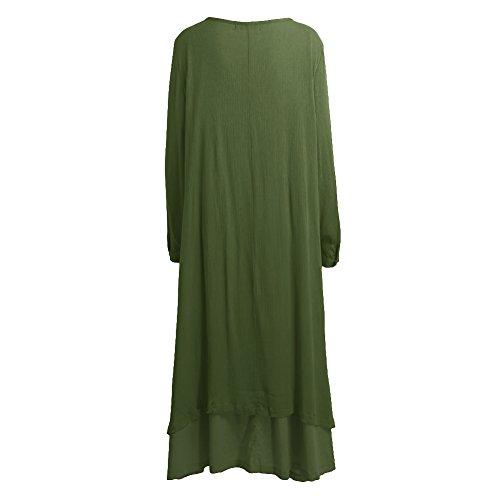 Romacci Women Boho Dress Casual Irregular Maxi Dresses Vintage Loose Cotton Viscose Dress,S-5XL 7
