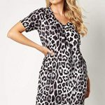 Roman Originals Women Animal Print Dress with Pockets Ladies Leopard Tunic Shift Jersey Slouch Oversized Fit Work Party… 22
