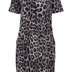Roman Originals Women Animal Print Dress with Pockets Ladies Leopard Tunic Shift Jersey Slouch Oversized Fit Work Party… 27