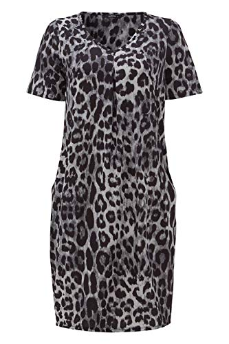 Roman Originals Women Animal Print Dress with Pockets Ladies Leopard Tunic Shift Jersey Slouch Oversized Fit Work Party… 8
