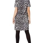 Roman Originals Women Animal Print Dress with Pockets Ladies Leopard Tunic Shift Jersey Slouch Oversized Fit Work Party… 28