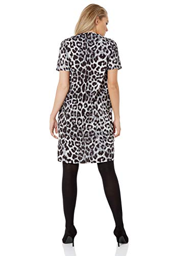 Roman Originals Women Animal Print Dress with Pockets Ladies Leopard Tunic Shift Jersey Slouch Oversized Fit Work Party… 9
