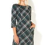 Roman Originals Women Check Shift Dress - Ladies Checkered Tartan Plaid Print Winter Smart Work Office Casual Formal… 18