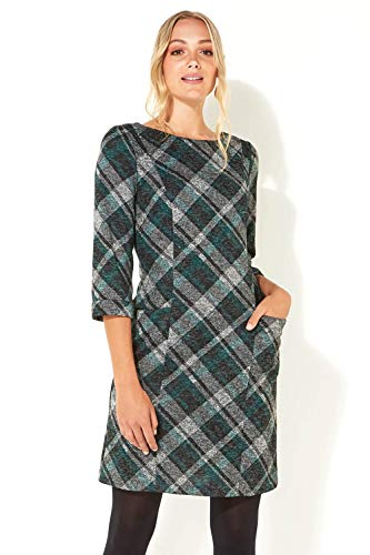 Roman Originals Women Check Shift Dress - Ladies Checkered Tartan Plaid Print Winter Smart Work Office Casual Formal… 3