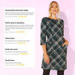 Roman Originals Women Check Shift Dress - Ladies Checkered Tartan Plaid Print Winter Smart Work Office Casual Formal… 21