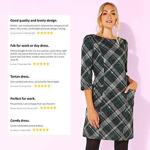 Roman Originals Women Check Shift Dress - Ladies Checkered Tartan Plaid Print Winter Smart Work Office Casual Formal… 6