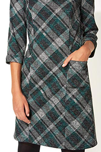 Roman Originals Women Check Shift Dress - Ladies Checkered Tartan Plaid Print Winter Smart Work Office Casual Formal… 7