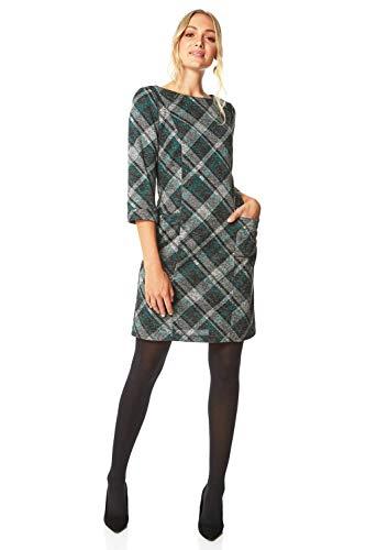 Roman Originals Women Check Shift Dress - Ladies Checkered Tartan Plaid Print Winter Smart Work Office Casual Formal… 1