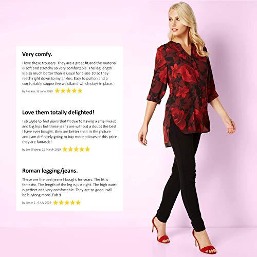 Roman Originals Women Jeggings Denim Jean Legging Ladies Stretch Cotton Trouser Smart Casual High Waisted Rise Pull On… 5