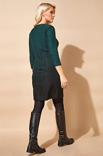 Roman Originals Women Ombre Shift Dress with Pockets Ladies Textured Gradient Pattern Cotton Tunic 3/4 Sleeve Work… 3