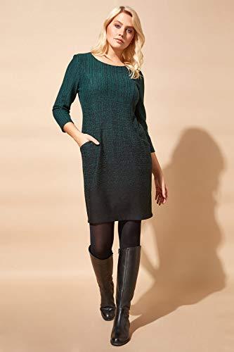 Roman Originals Women Ombre Shift Dress with Pockets Ladies Textured Gradient Pattern Cotton Tunic 3/4 Sleeve Work… 4