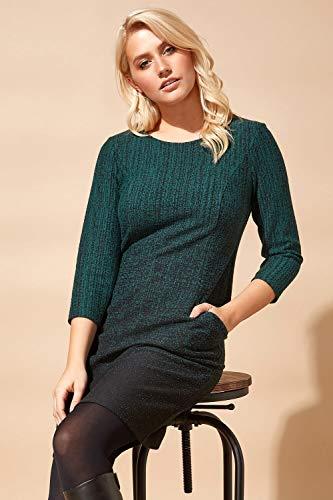 Roman Originals Women Ombre Shift Dress with Pockets Ladies Textured Gradient Pattern Cotton Tunic 3/4 Sleeve Work… 6