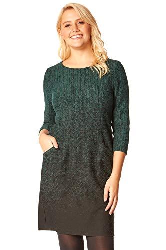 Roman Originals Women Ombre Shift Dress with Pockets Ladies Textured Gradient Pattern Cotton Tunic 3/4 Sleeve Work… 1