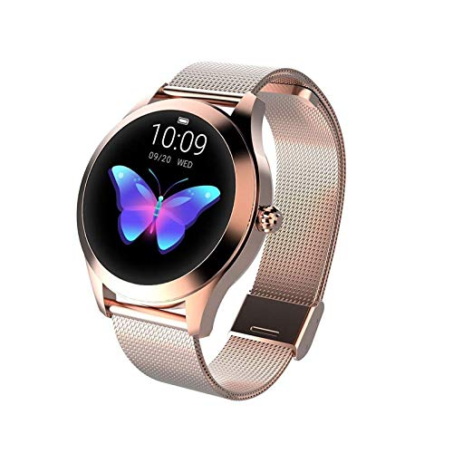 Round IP68 Waterproof Touchscreen Smart Watch for Women, Smart Watch KW10, Fitness Tracker with Heart Rate and Sleep… 2