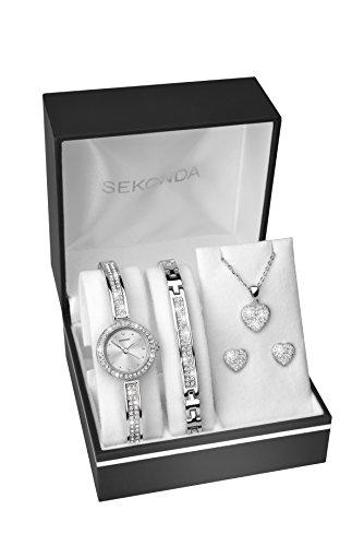 SEKONDA Womens Analogue Classic Quartz Watch with Silver Strap 2528G.68 4