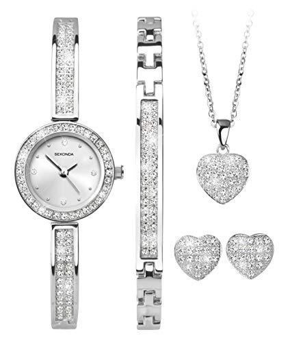 SEKONDA Womens Analogue Classic Quartz Watch with Silver Strap 2528G.68 1