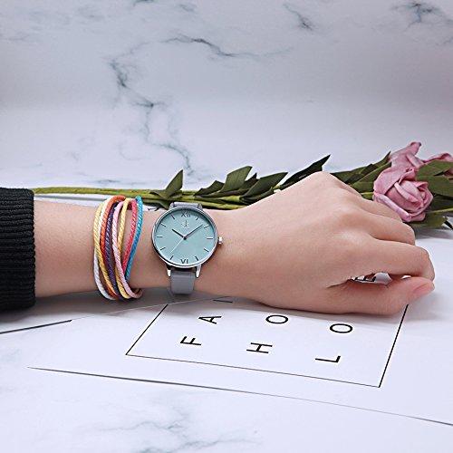 SHENGKE Creative Simplicity Women Watch Genuine Leather Elegant Women Watches Ladies Business Wristwatch 3