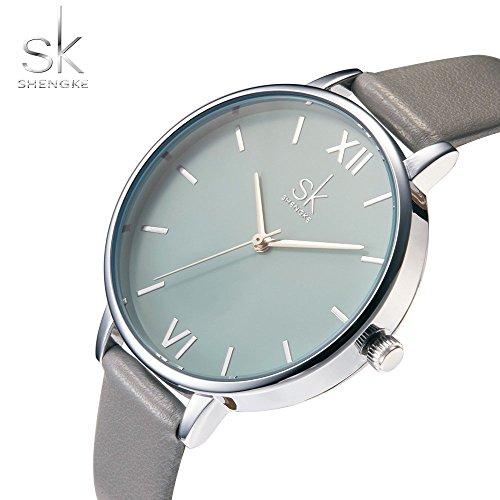 SHENGKE Creative Simplicity Women Watch Genuine Leather Elegant Women Watches Ladies Business Wristwatch 4