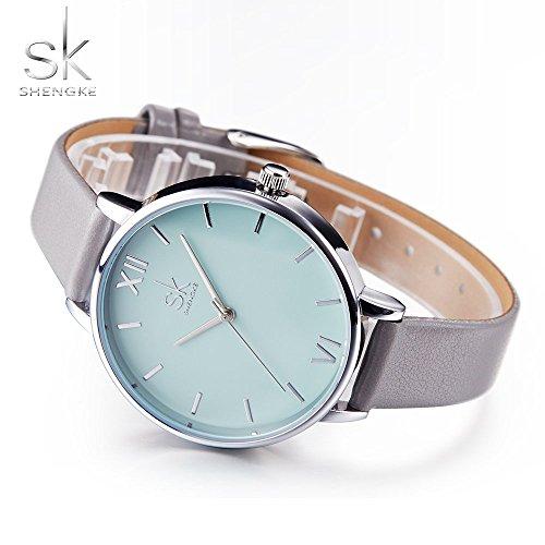 SHENGKE Creative Simplicity Women Watch Genuine Leather Elegant Women Watches Ladies Business Wristwatch 5