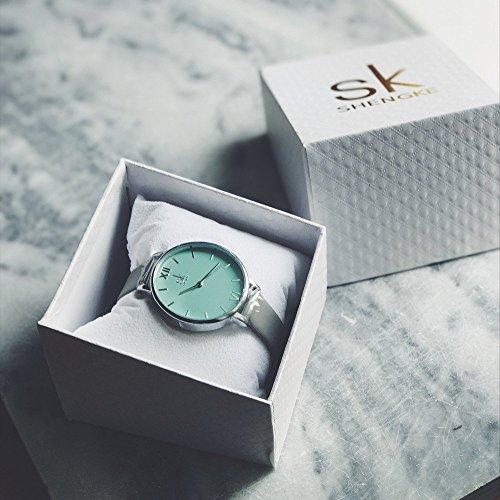 SHENGKE Creative Simplicity Women Watch Genuine Leather Elegant Women Watches Ladies Business Wristwatch 7