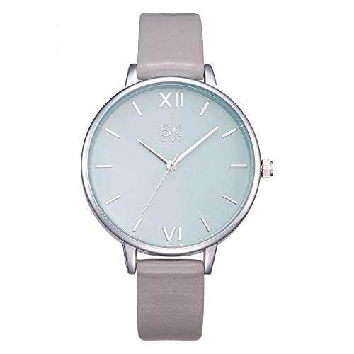 SHENGKE Creative Simplicity Women Watch Genuine Leather Elegant Women Watches Ladies Business Wristwatch 1