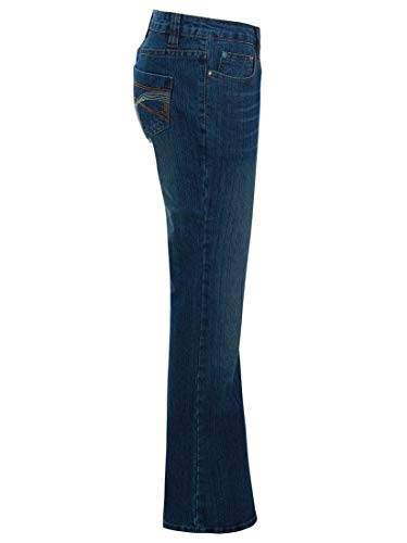 SS7 Womens Mid Blue Relaxed Fit Flared Denim Jeans 3