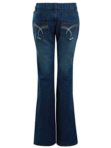 SS7 Womens Mid Blue Relaxed Fit Flared Denim Jeans 4