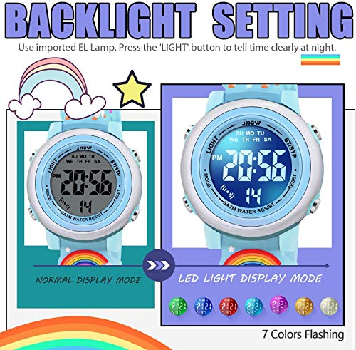 SUPZOE 3D Cartoon Waterproof Kids Watches for Girls with Alarm - Best Toys Gifts for Girls Age 3-10 3