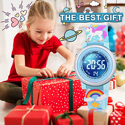 SUPZOE 3D Cartoon Waterproof Kids Watches for Girls with Alarm - Best Toys Gifts for Girls Age 3-10 4