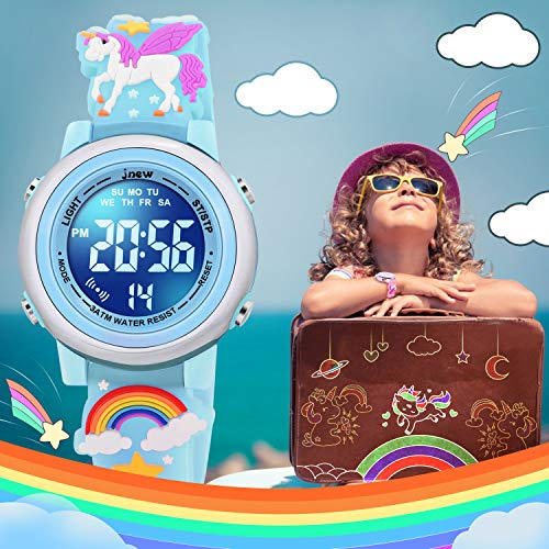 SUPZOE 3D Cartoon Waterproof Kids Watches for Girls with Alarm - Best Toys Gifts for Girls Age 3-10 5