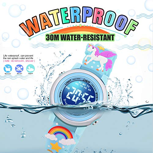 SUPZOE 3D Cartoon Waterproof Kids Watches for Girls with Alarm - Best Toys Gifts for Girls Age 3-10 8