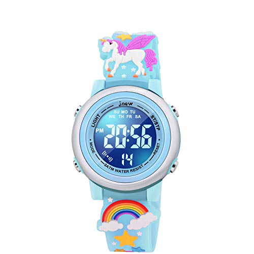 SUPZOE 3D Cartoon Waterproof Kids Watches for Girls with Alarm - Best Toys Gifts for Girls Age 3-10 1