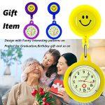 SibyTech Nurse Fob Watch, Clip-on Hanging & Retractable Medical Pocket Watch for Men Women,Pointer Glow in Dark… 19