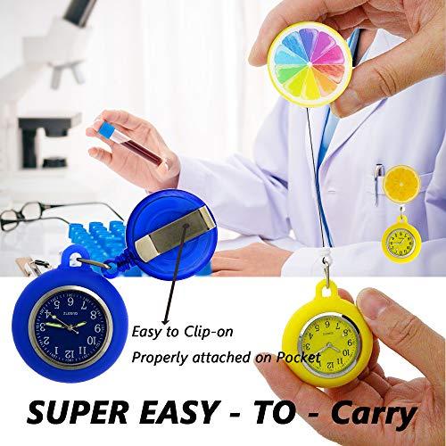 SibyTech Nurse Fob Watch, Clip-on Hanging & Retractable Medical Pocket Watch for Men Women,Pointer Glow in Dark… 7