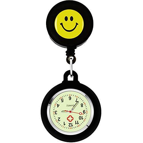 SibyTech Nurse Fob Watch, Clip-on Hanging & Retractable Medical Pocket Watch for Men Women,Pointer Glow in Dark… 1