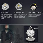 Smooth Vintage Steel Quartz Pocket Watch Classic Fob Pocket Watch with Short Chain for Men Women - Gift for Birthday… 24