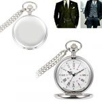 Smooth Vintage Steel Quartz Pocket Watch Classic Fob Pocket Watch with Short Chain for Men Women - Gift for Birthday… 25