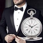 Smooth Vintage Steel Quartz Pocket Watch Classic Fob Pocket Watch with Short Chain for Men Women - Gift for Birthday… 27