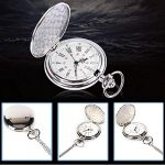 Smooth Vintage Steel Quartz Pocket Watch Classic Fob Pocket Watch with Short Chain for Men Women - Gift for Birthday… 28