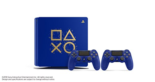 """Sony PlayStation 4 500GB Console - Limited Edition Blue """"Days of Play"""" 5"""
