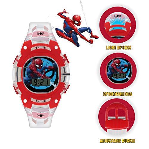 Spiderman Boys Digital Watch with PU Strap SMH4000 3