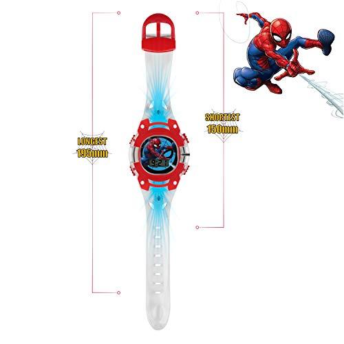 Spiderman Boys Digital Watch with PU Strap SMH4000 4