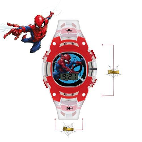 Spiderman Boys Digital Watch with PU Strap SMH4000 7
