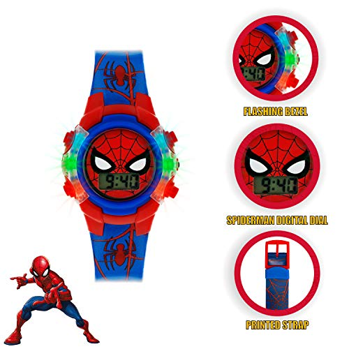 Spiderman Boys Digital Watch with PU Strap SPD4504 3