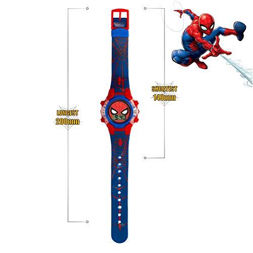 Spiderman Boys Digital Watch with PU Strap SPD4504 7