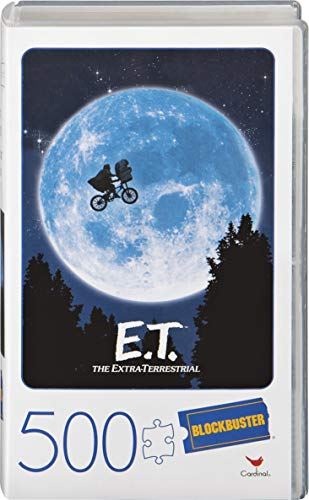 Spin Master Games E.T. the Extra-Terrestrial Movie 500-Piece Puzzle in Plastic Retro Blockbuster VHS Video Case 1